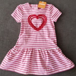 NWT Striped Heart Gymboree Dress & Diaper Cover
